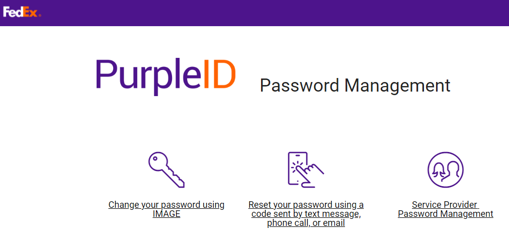 FedEx Workday Manage Password Process