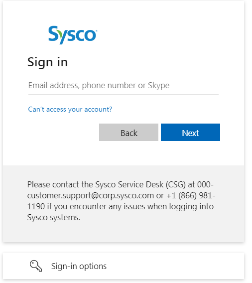 Sysco Workday Login steps