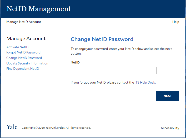 Yale workday change password
