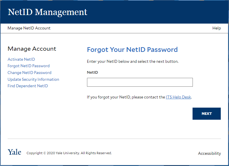 Yale Workday Recover Password